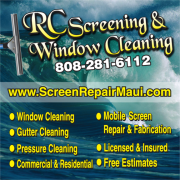 screen repair and window cleaning on Maui
